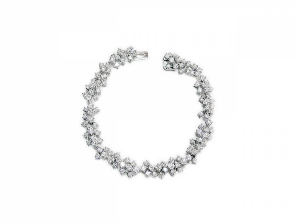 Bracciale Mimosa Oro Bianco Diamanti
