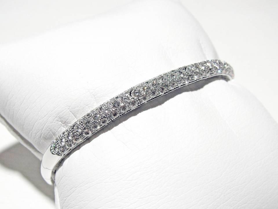 Bracciale Rigido Diamanti a Pavé
