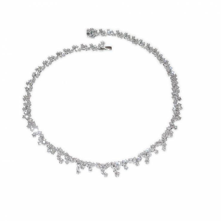 Collana Mimosa Oro Bianco e Diamanti