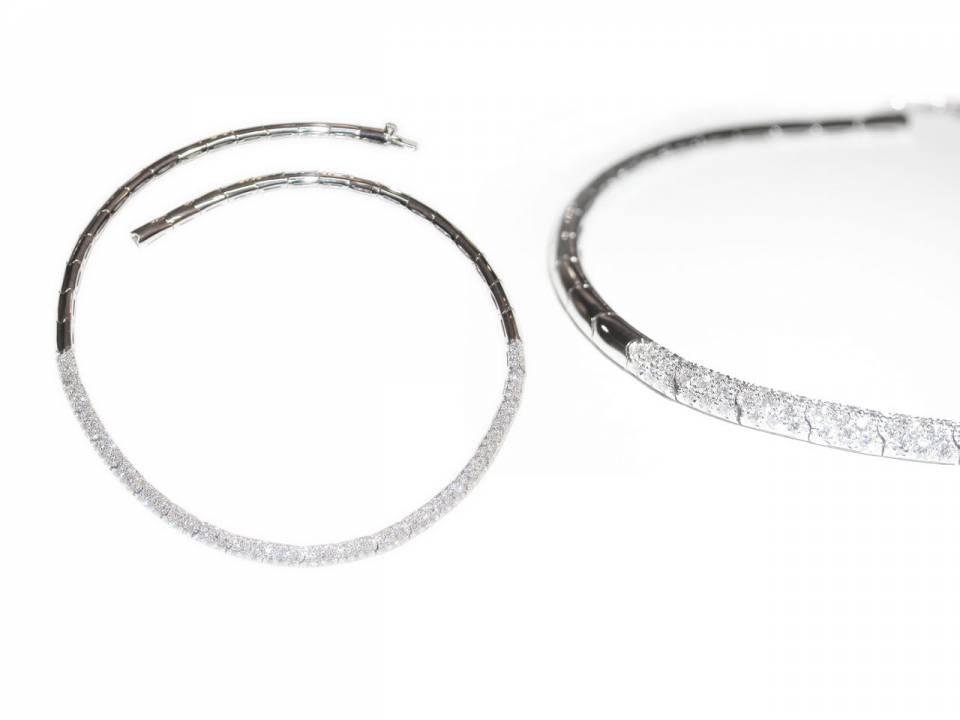 Collana Semirigida Oro bianco e Diamanti